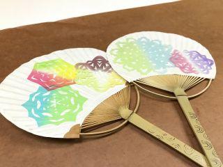 おぐに和紙の手作りうちわ作り♪軽くて丈夫の和紙うちわで暑い夏を涼しくすごそう!