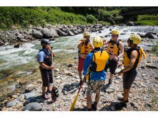 体験前にまずは安全面の説明や漕ぎ方の練習などの安全講習を行います