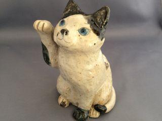 猫を作りましょう!(青い目の猫:高さ17センチ)
