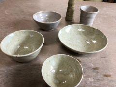 お茶碗・花瓶・コップなど、サイズにより2作品作れます。