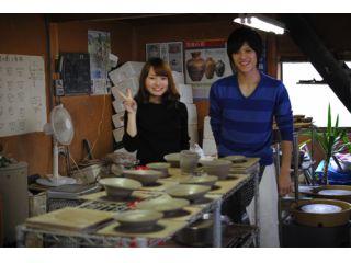 【カップル向け】記念写真付★陶芸体験「ロクロコース」(お一人様3000円)