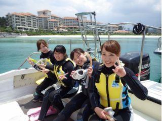 【本島北部ブセナ発】自社ボートで船酔いなし!乗船3分★ボートシュノーケリング!
