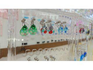 【ガラス細工・ピアス、イヤリング】女性必見!綺麗なガラスを使いお気に入りのピアス、イヤリングを作ろう!