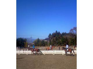 馬場全景こちらで騎乗します
