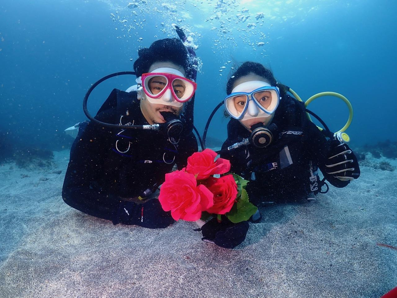 【ダイビング×カップルプラン】◆二人だけでじっくり体験ダイビングを楽しめる♪その...