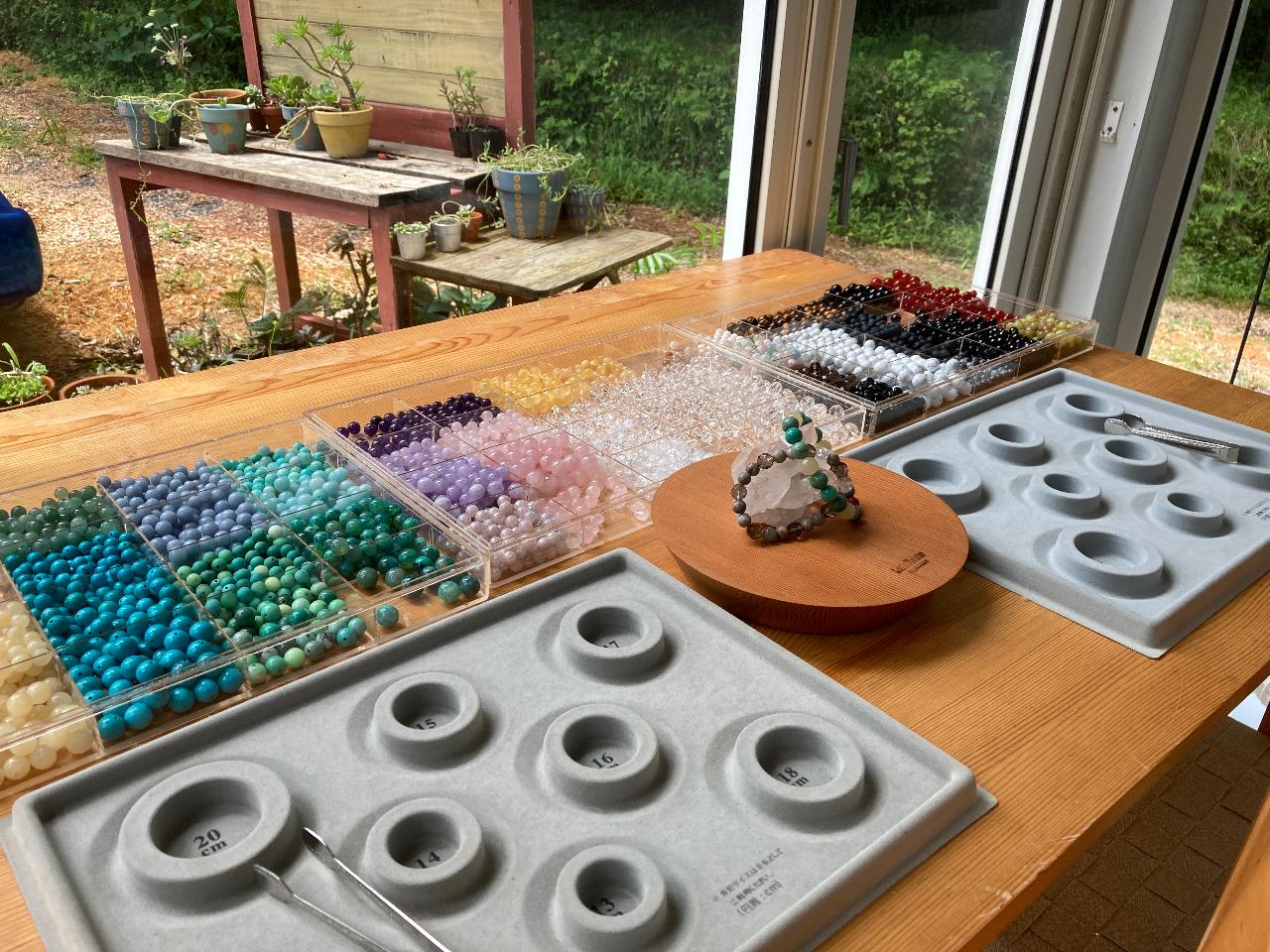 【伊豆高原・パワーストーンブレスレット制作】約20種の天然石から選べる♪カップル...