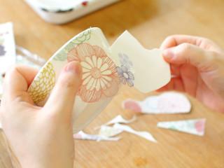 【伊豆高原・ポーセリンアート】白磁器にお好みシールをつけて、世界に一つだけの食器...