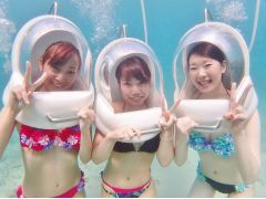 水底到着!海の中なのに息が吸える!顔が濡れない!新鮮な感覚♪