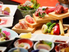 薩摩三大黒肉、お肉のかいだんを溶岩焼きでご賞味ください