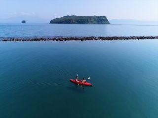 最高の景色を眺めながら、穏やかな錦江湾でカヤックデビュー