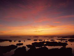 九十九島の夕陽