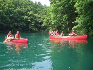 森と湖青木湖でカヌー