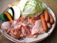 【バーベキューメニュー】園内で炭焼きバーベキューが楽しめます!お肉は「牛肉・豚肉・羊肉・大山鶏」から選べます★ご予約の際は、事前にお肉の種類をお選びください
