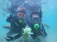 初水中呼吸の瞬間は写真でプレゼント♪ お1人でも、お友達同士でも、カップルでも、家族でもOK♪