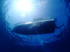 黒潮の恩恵を受ける海です。黒潮が接近すると透明度上昇。