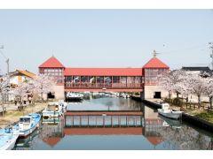 春には橋とともに、桜がお出迎えしてくれます。