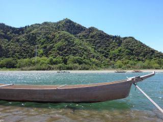 岐阜城の麓から♪長良川漁船にのりこみ出発っ