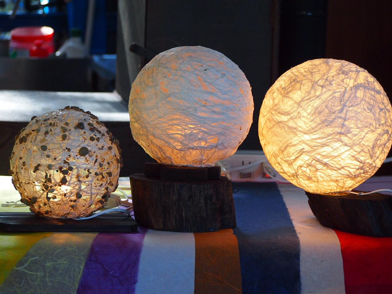 【お月様のような丸形ランプ】※S・M・Lサイズ※≪手作り丸形ランプ体験≫