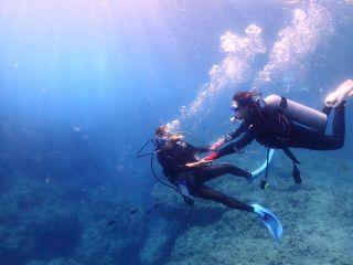 手を繋いで海の世界へ!
