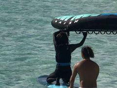 海上での練習風景