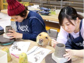 愛犬と一緒に茶香炉作り♪出来上がりが楽しみだワン!