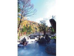 平湯温泉の短い秋を露天風呂に浸かりながらお楽しみ下さい!!!!!