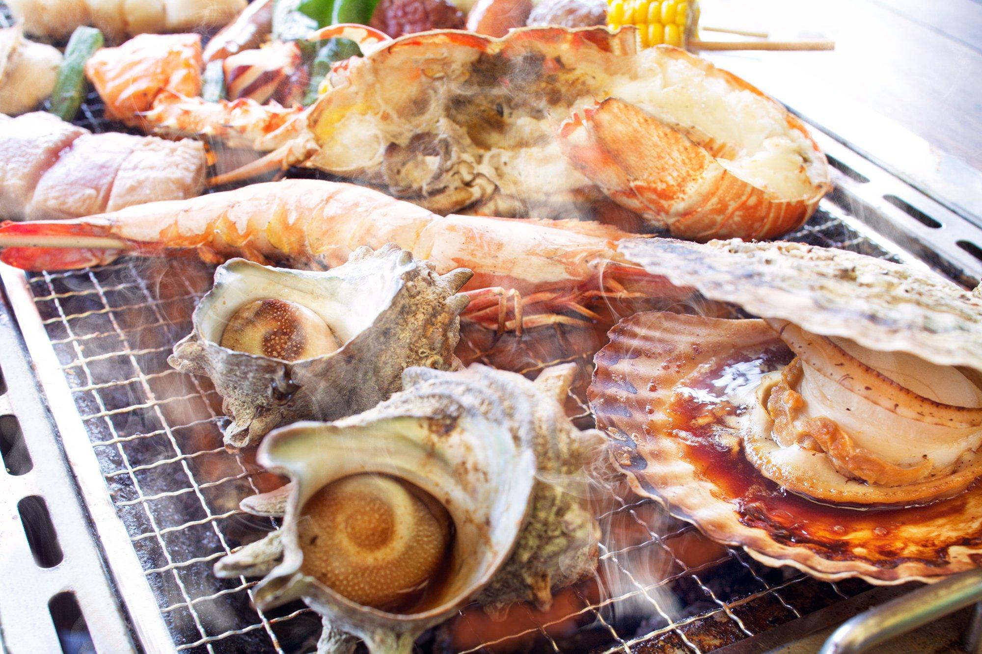 【てぶらでOK!】 5%プリペイド付!★好きな食材が選べる★浜焼きバーベキュー《...