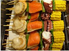 海鮮串750円
