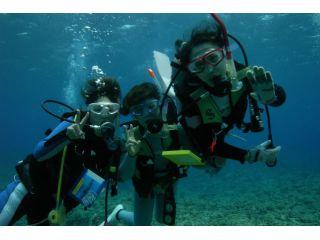 まずは浅場で練習します。しっかり水中呼吸に慣れたら、久米島の海を楽しみましょう。