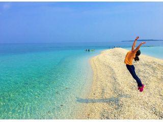 青い空に白いバラス島
