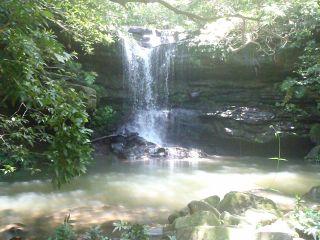 ジャングル奥地にひっそりと!クーラの滝!