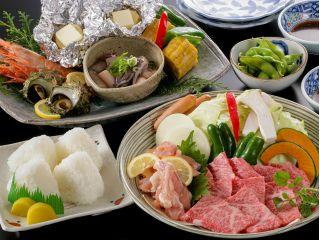 お肉に海の幸&自家製野菜♪BBQ一番人気プランです☆