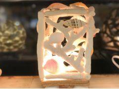 貝殻を使ったデコレーションは光が透けて綺麗☆