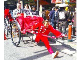浅草で5台しかない3人乗り人力車!!!