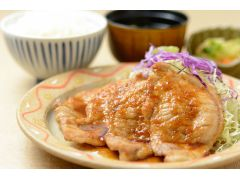 上州麦豚生姜焼き定食