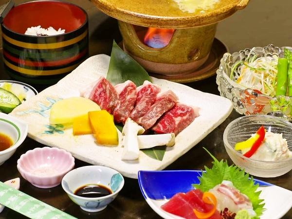 【花山温泉入浴付!】熊野牛カットステーキ御膳のご昼食