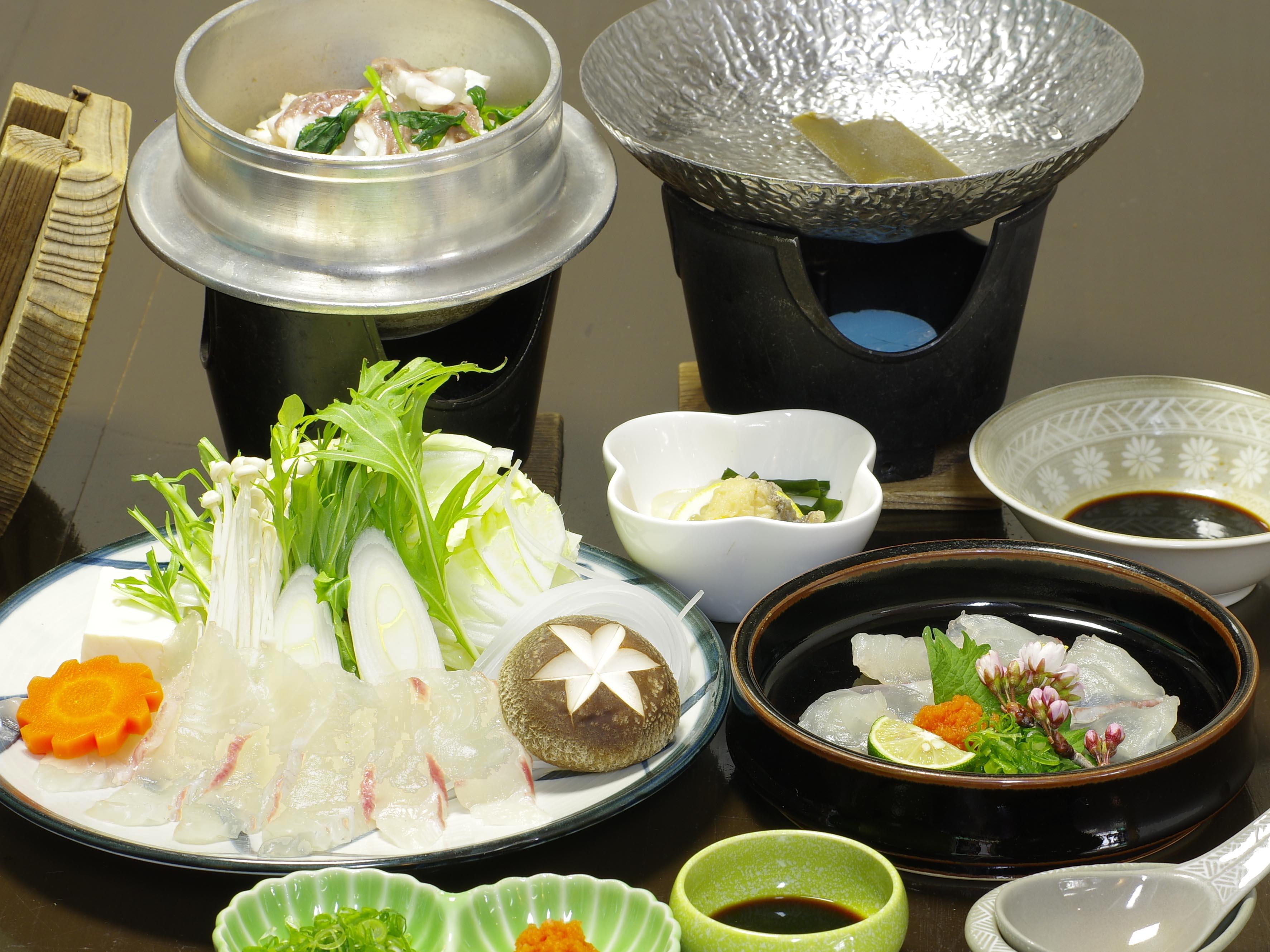 【旬の味覚】まだいしゃぶしゃぶ小鍋と釜飯御膳+温泉付き!!!