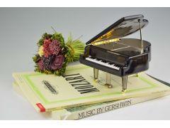 クリアピアノのオルゴール。透明と黒の2種類あります。4500円