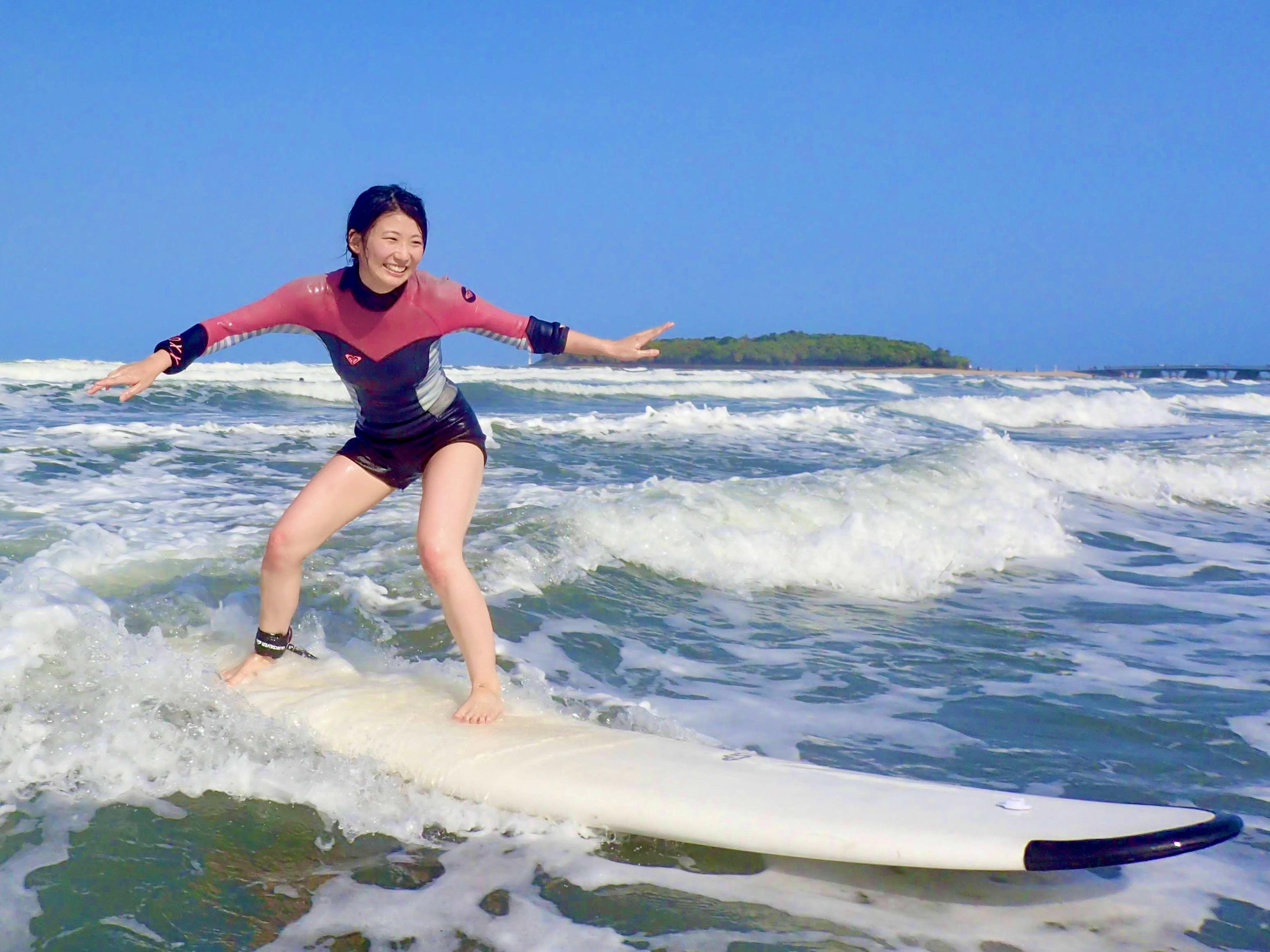 【新プラン】13:30「90分で波に乗ろう!はじめてのサーフィン体験」宮崎・青島...