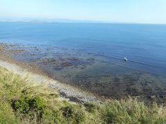 ハンターズインの前の海