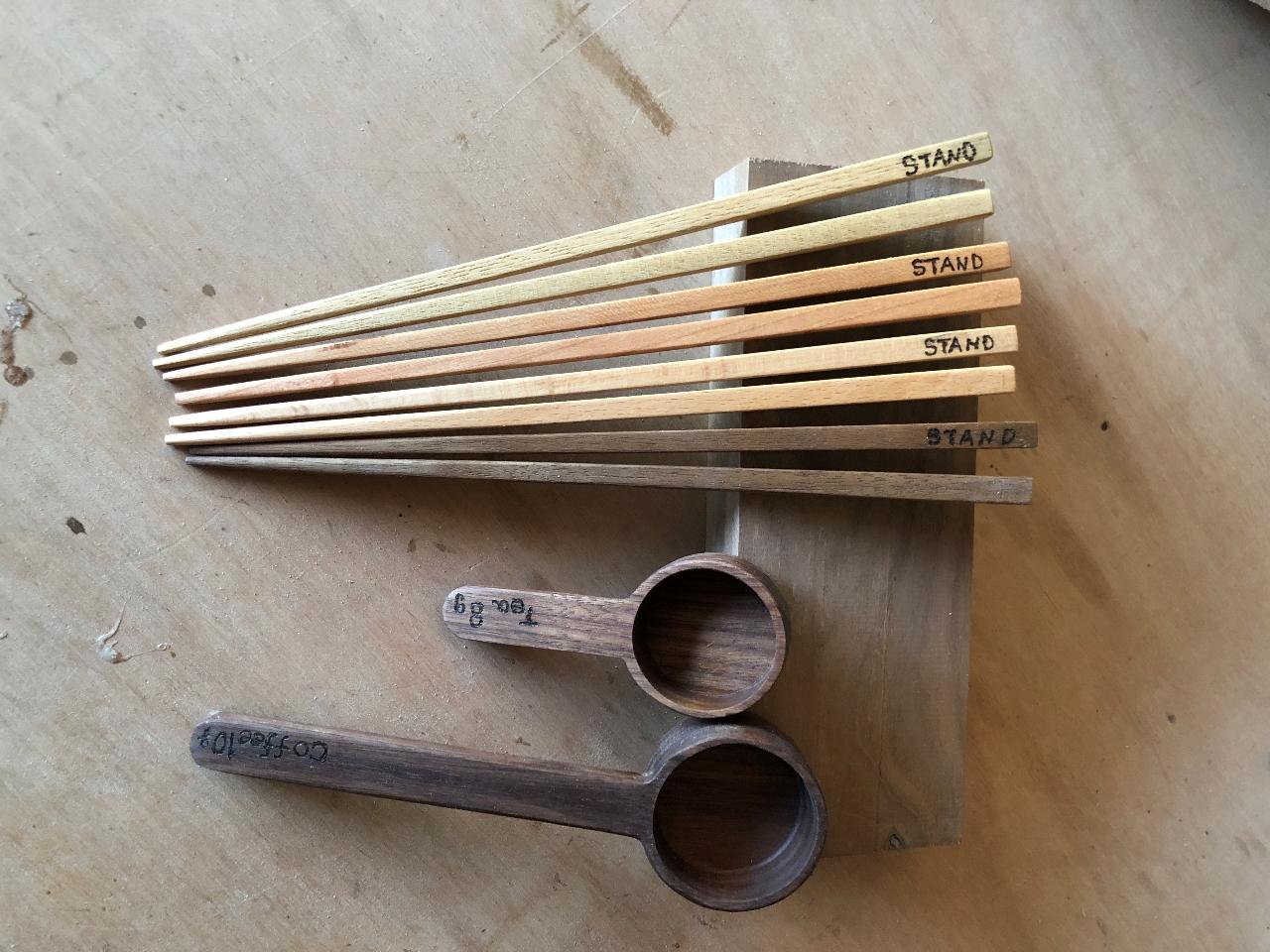 オリジナル茶さじ(Tea measure spoon)or広葉樹天然木箸制作体験...