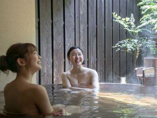 【貸切風呂 金色夜叉】おふたりでもゆっくりと熱海の温泉を満喫できる貸切風呂。50分ゆっくりとお楽しみ頂けます。
