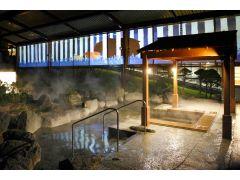 大露天風呂のプロジェクションマッピング