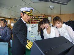 ご希望の方は「操舵室」の見学もできます。お気軽にスタッフまで!