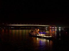 ライトアップされた「広島大橋」 通称:広島ベイブリッジ