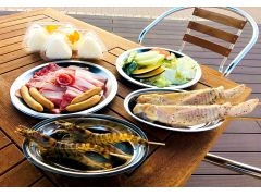 BBQプラン食材イメージ(大人用) 天草ならではの食材【天草大王や車エビ付き!】
