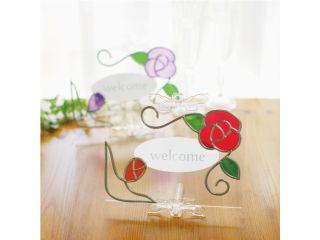 【初心者大歓迎】グラスアート~バラのフォトスタンド作り~※約1時間※