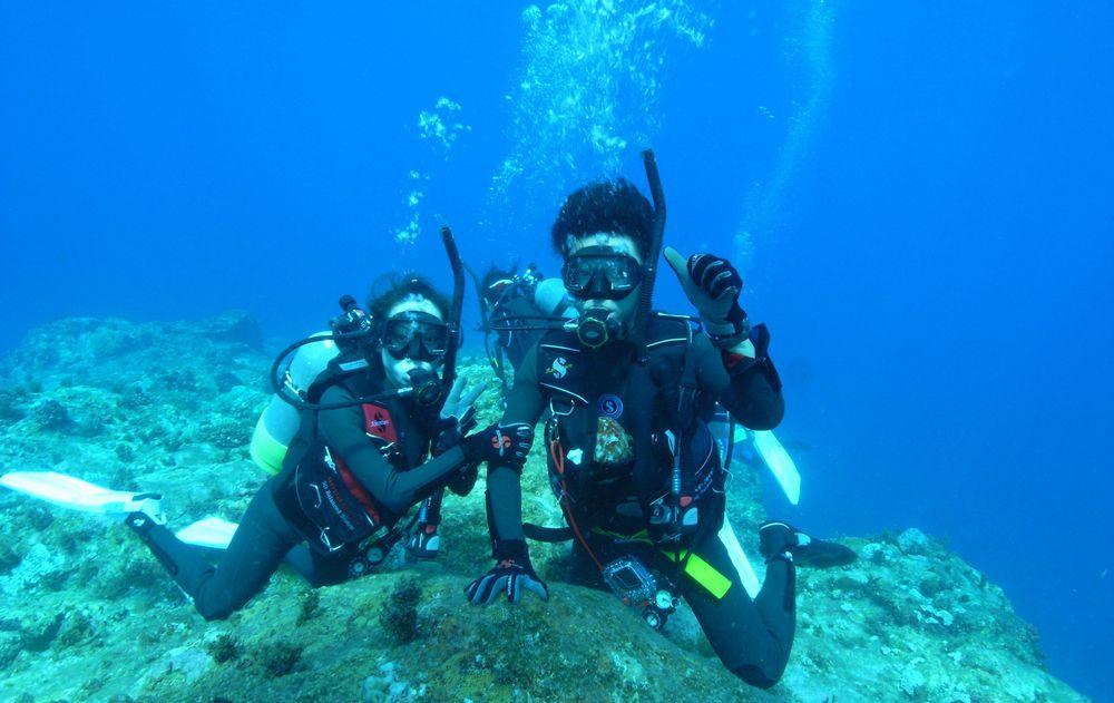【海洋ボートからの2体験ダイビング&スノーケリング】【往復送迎・1ドリンクサービ...