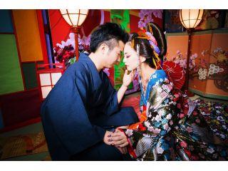 カップルや夫婦で花魁体験を楽しみましょう!いつもとは違うデートや、プレゼントをしたい方にもオススメです!お二人のキセキの1枚お撮りします!