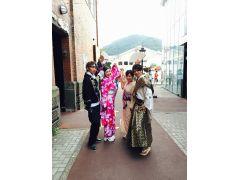 函館旅行 カップル同士で変身